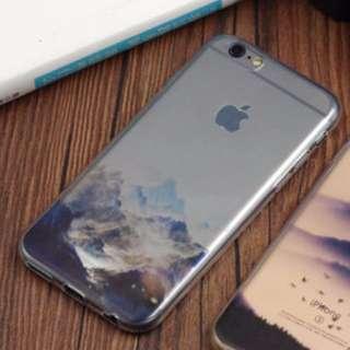 IPHONE 6\6S 4.7吋 手機軟殼\軟套\透明風景\雪山