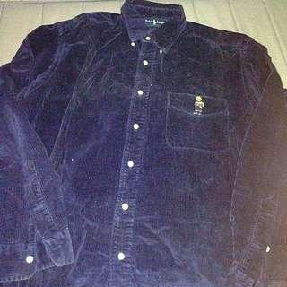Ralph Lauren Bear velvet shirt