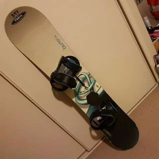 Burton Snowboard With Bindings