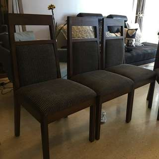 4 X Dinning Solid Wood Chairs