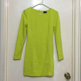 Bardot Neon Dress