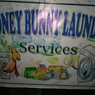 Honey Bunny Laundry Service  -sameday Service  -save Time  -save Money -P50 Per Load Only  (Up To 6kg) -dryer Service P50only