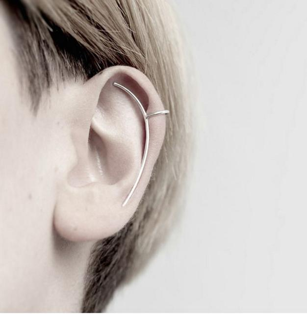 限量)極簡長型耳夾