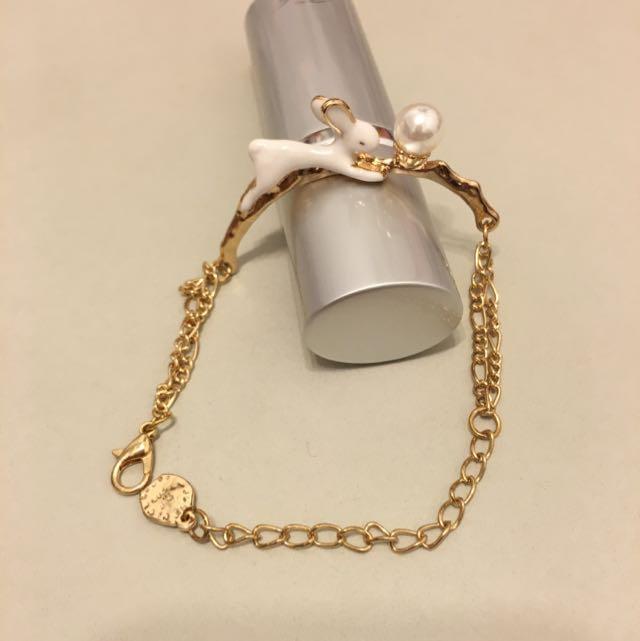 珍珠兔子~立體手環