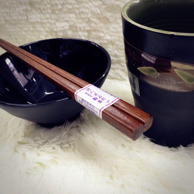 【天然 • 木の極品】日式風格 木品系列 10雙入檀木筷(另售日式飯碗)