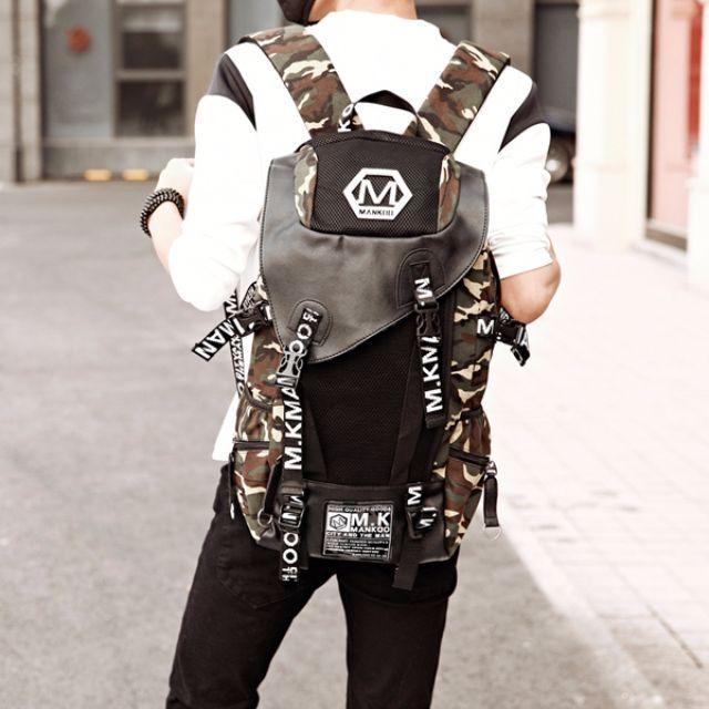 預購 街頭潮流帆布後背包 男包 中性背包 | 8色 |