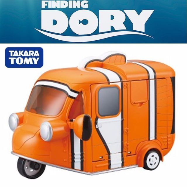 『 單位日貨 』 日本正版 多美 TOMY TOMICA 迪士尼 海底總動員 尼莫 收納 展示 貨櫃 廂型車