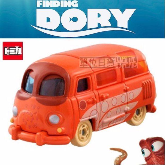 『 單位日貨 』 日本正版 多美 TOMY TOMICA 迪士尼 海底總動員 漢克 章魚 小車 合金 收藏