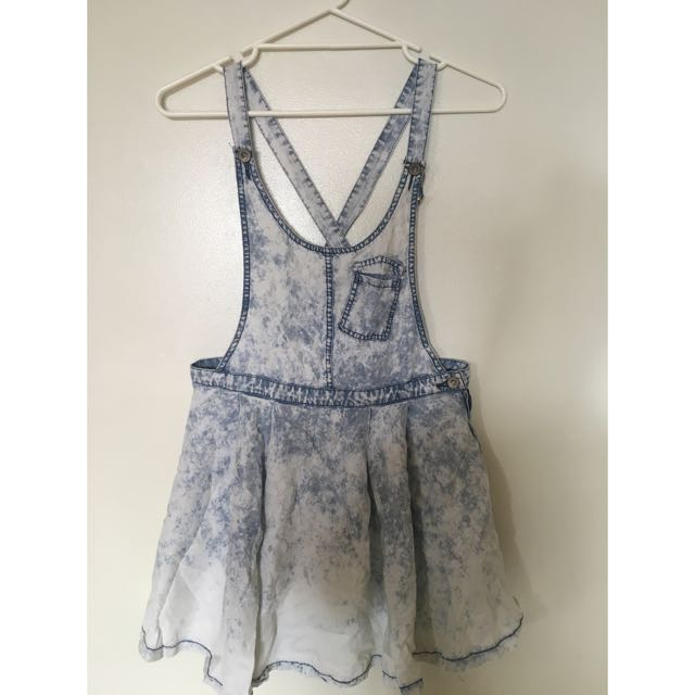 Acid Wash Denim Pinafore
