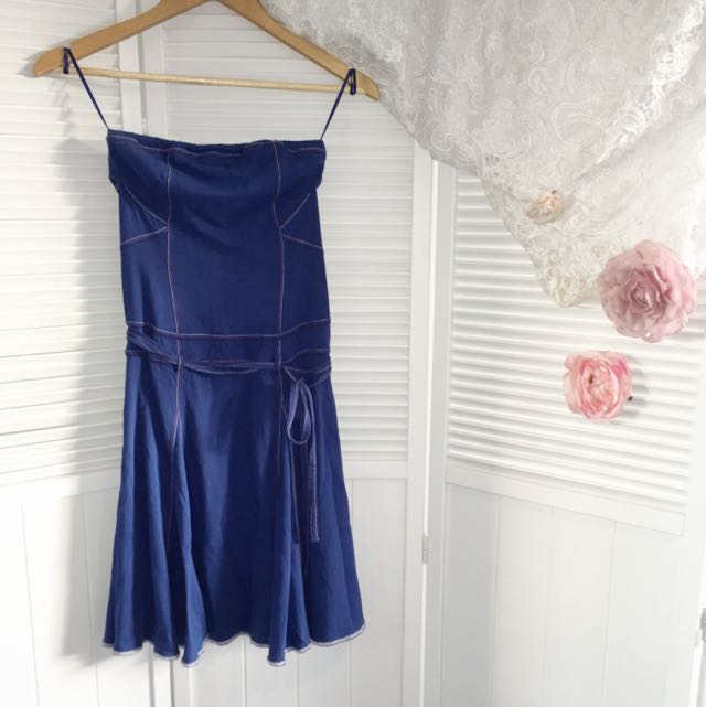Armani Exchange Boobtube Strapless Dress XS