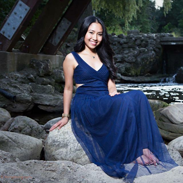 BCBG Blue Long Gown Dress