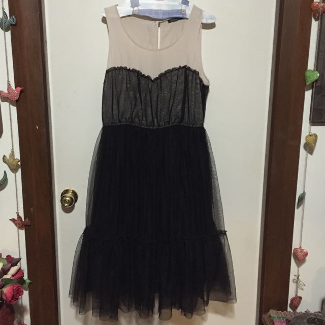 Beautiful Black And Cream Portmans Dress