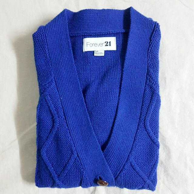 Blue Knitwear Cardigan