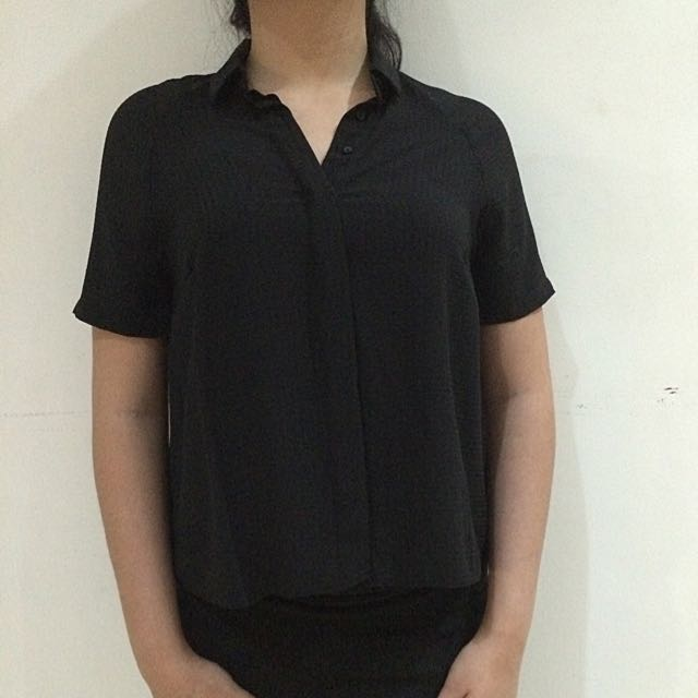 DOROTHY PERKINS Black Short Sleeves T-shirt