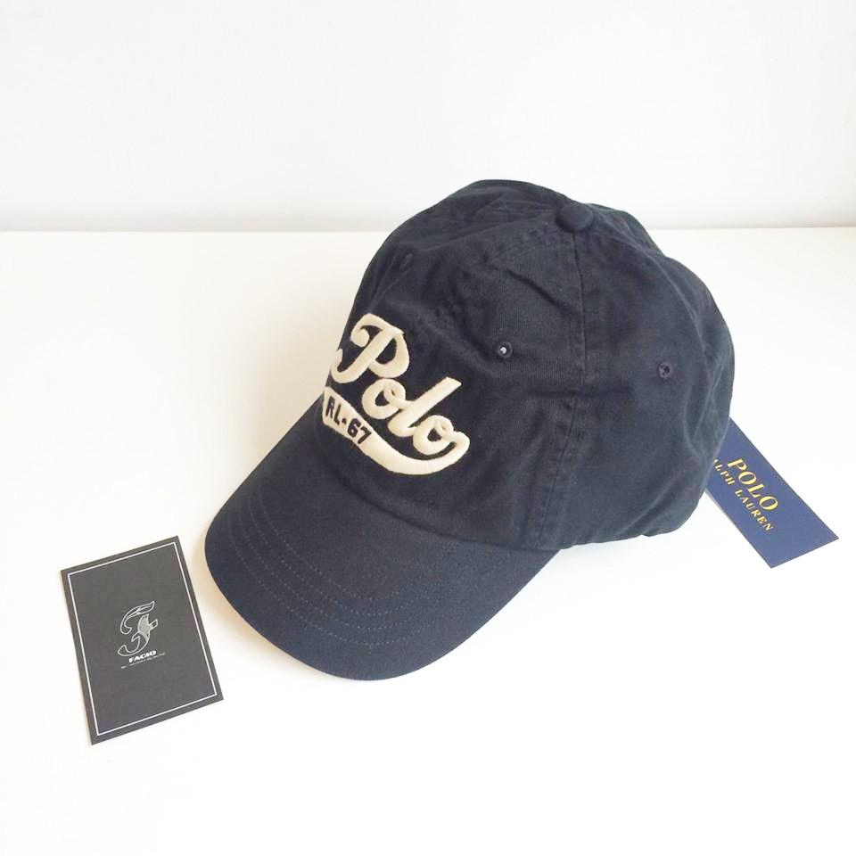 ☆FACIO桃園☆ POLO RALPH LAUREN 電繡 Logo 文字 撞色 皮帶扣 深藍 黑色 復古 老帽 彎帽 黑色 現貨