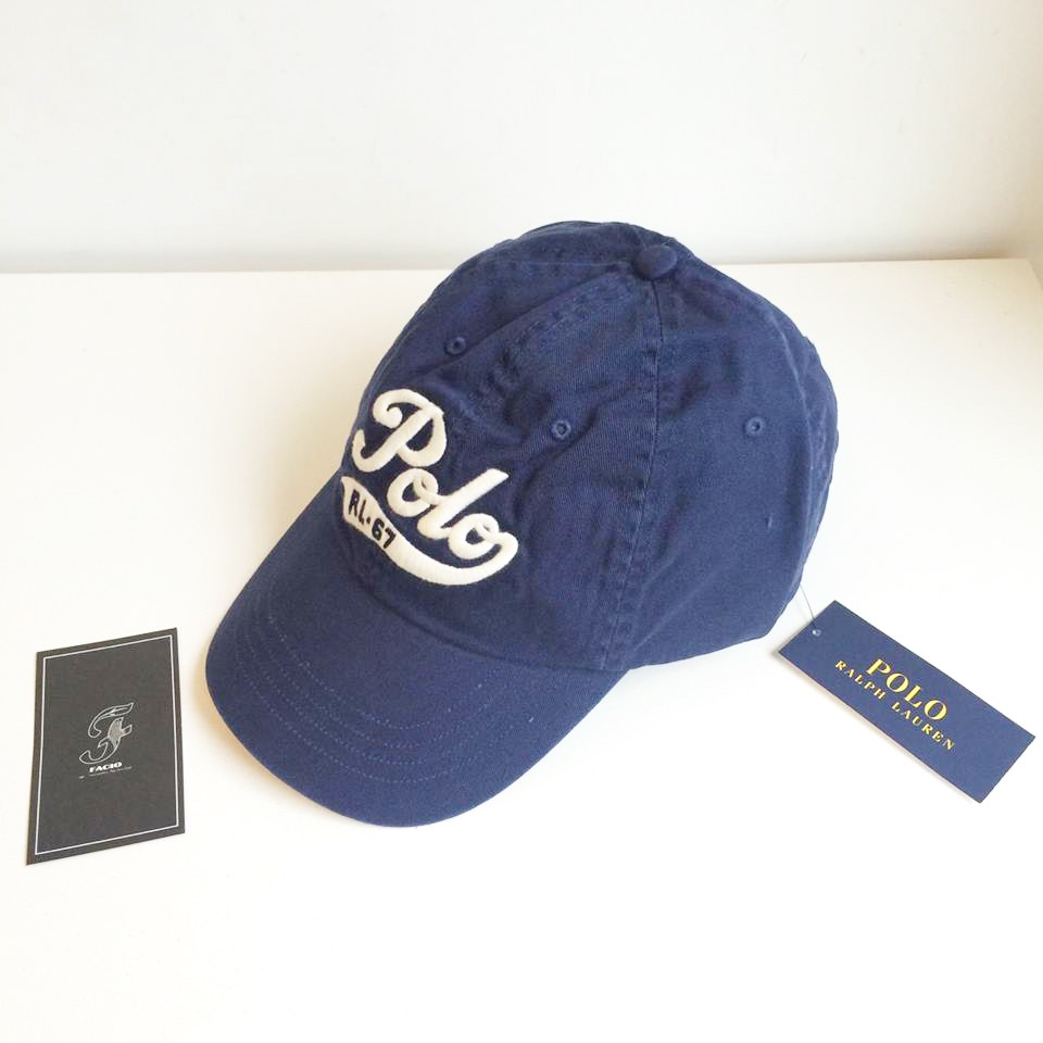 ☆FACIO桃園☆ POLO RALPH LAUREN 電繡 Logo 文字 撞色 皮帶扣 深藍 黑色 復古 老帽 彎帽 深藍 現貨