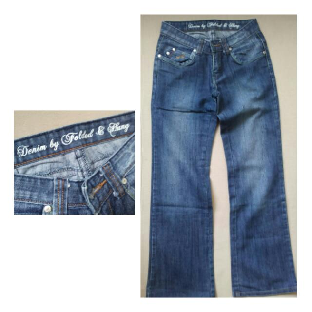 Folded & Hung Denim Jeans