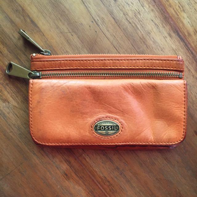 Fossil Wallet Orange