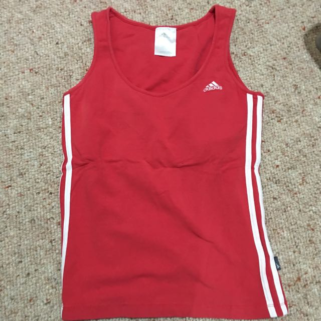 Genuine Adidas Tank With Built In Bra