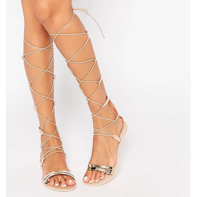 Gladiator Flats (Tie) size 37