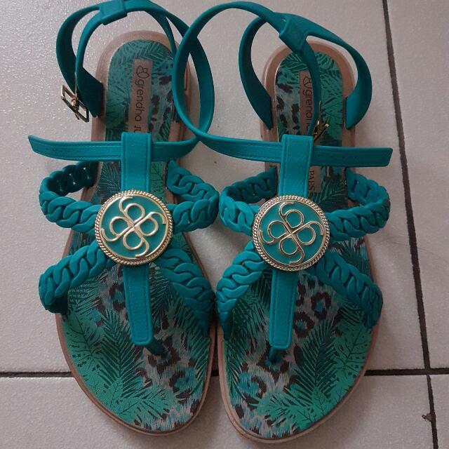 Grendha Green Sandals