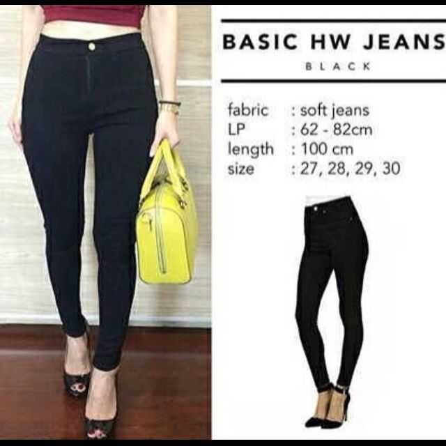 Highwaist Black Jeans