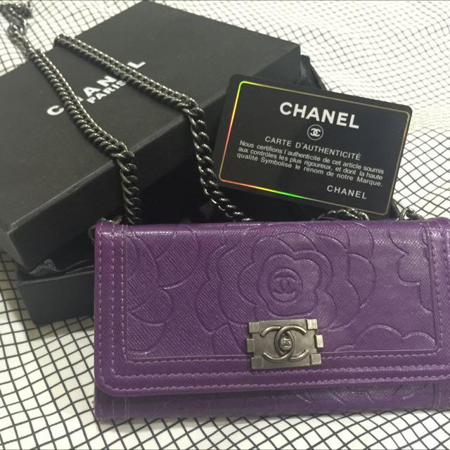 iPhone6/6s Chanel香奈兒鏈條掀蓋手機殼
