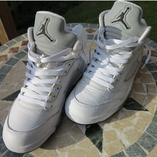 Jordan 5 Metallic White US8.5