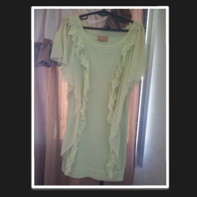 Salsa Trends Light Green Party Dress