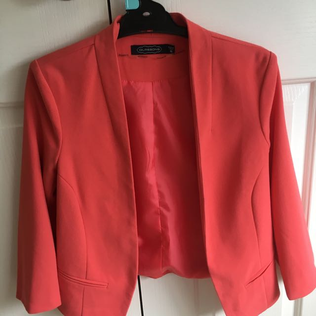 Peach Cropped Blazer