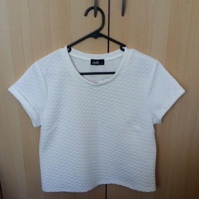 Quilted White Top
