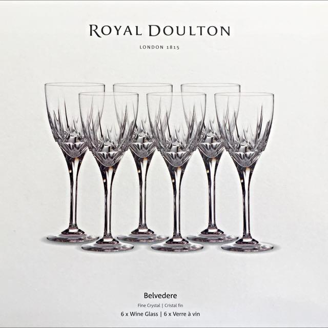 ROYAL DOULTON BELVEDERE WINE GLASSES