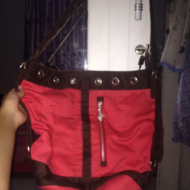 Tas Selempang/ Sling Bag Maroon