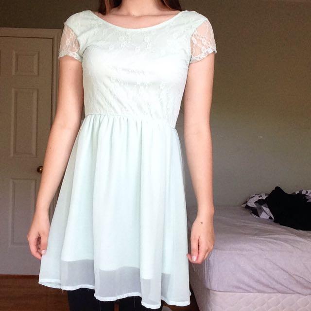Teal Streetwear Society Dress