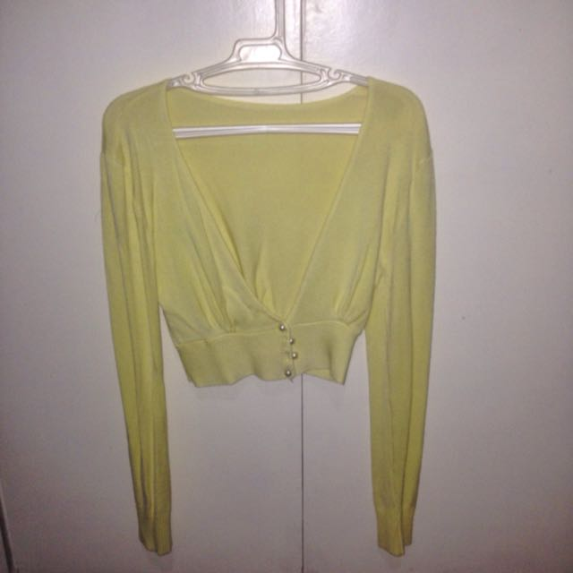 Yellow Crop Cardigan
