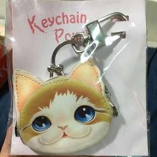 石頭貓 小口金包鎖匙扣