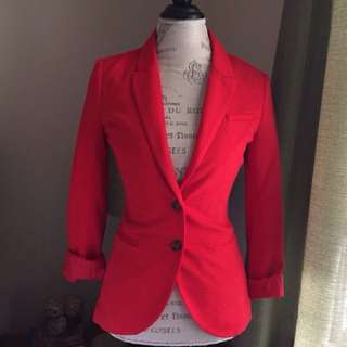 *RESERVED* Fitted Red Blazer