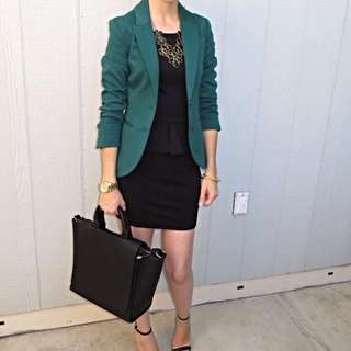*RESERVED* Fitted Forest Green Blazer