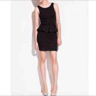 *RESERVED* Black Fitted Peplum Dress