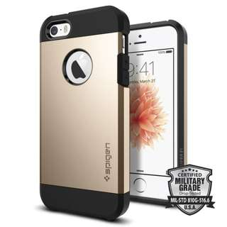 SPIGEN IPHONE SE / 5S / 5 TOUGH ARMOR CHAMPAGNE GOLD