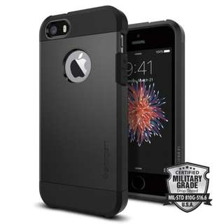 SPIGEN IPHONE SE / 5S / 5 TOUGH ARMOR BLACK