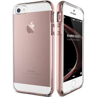 VERUS IPHONE SE / 5S / 5 CRYSTAL BUMPER ROSE GOLD