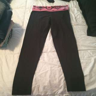Pink tights black with pink waistband size small