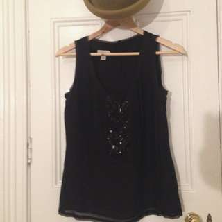 Witchery Silk Beaded Top