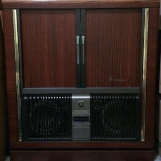 古董級拉門電視