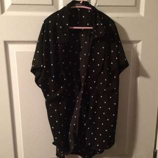 Black and White Sheer Top size Small