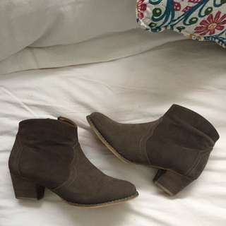 Brown Suede Boots - Rubi Shoes