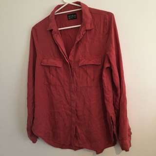 RUST coloured button up