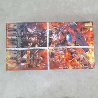 Bandai MG Unicorn Gundam + Cage