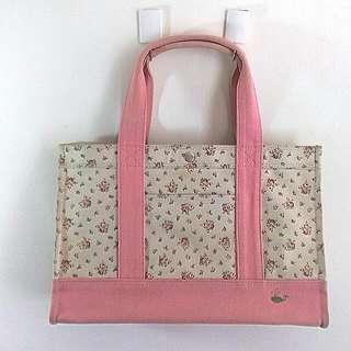💙日本帶回小花手提袋💙